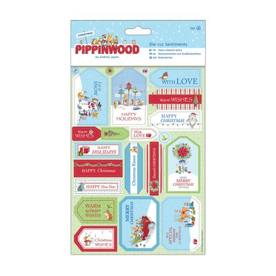 Die-cut Sentiments Linen - Pippinwood Christmas