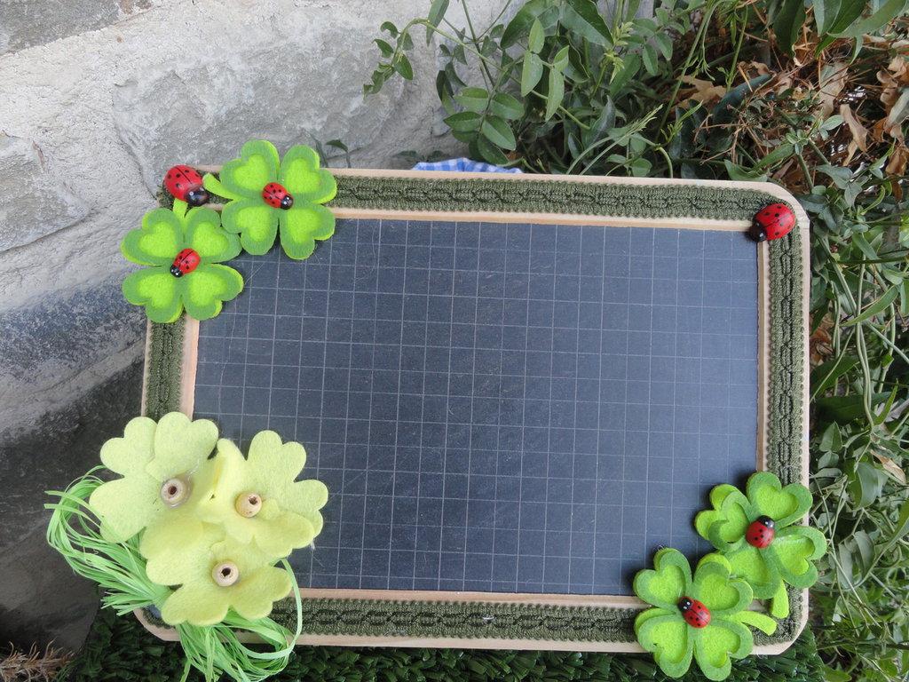 Lavagnetta decorativa verde