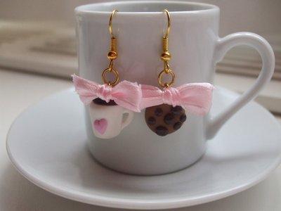 Orecchini Tazzina + Biscotto Cookie