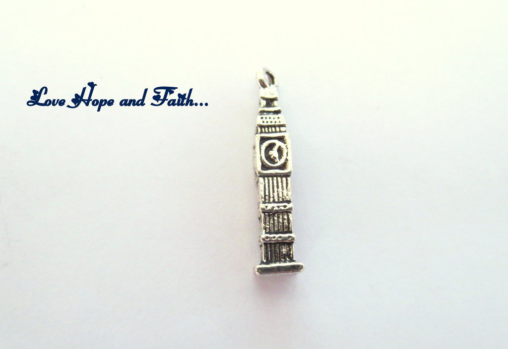 "Charm ciondolo  ""Big Ben Tower"" (25x5mm) (cod.16651)"