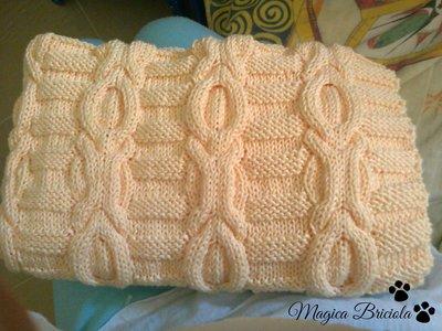 Copertina con nodi a maglia