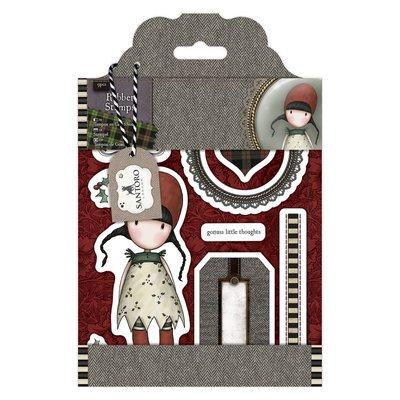 "Rubber Stamps - Santoro Tweed ""Holly"""