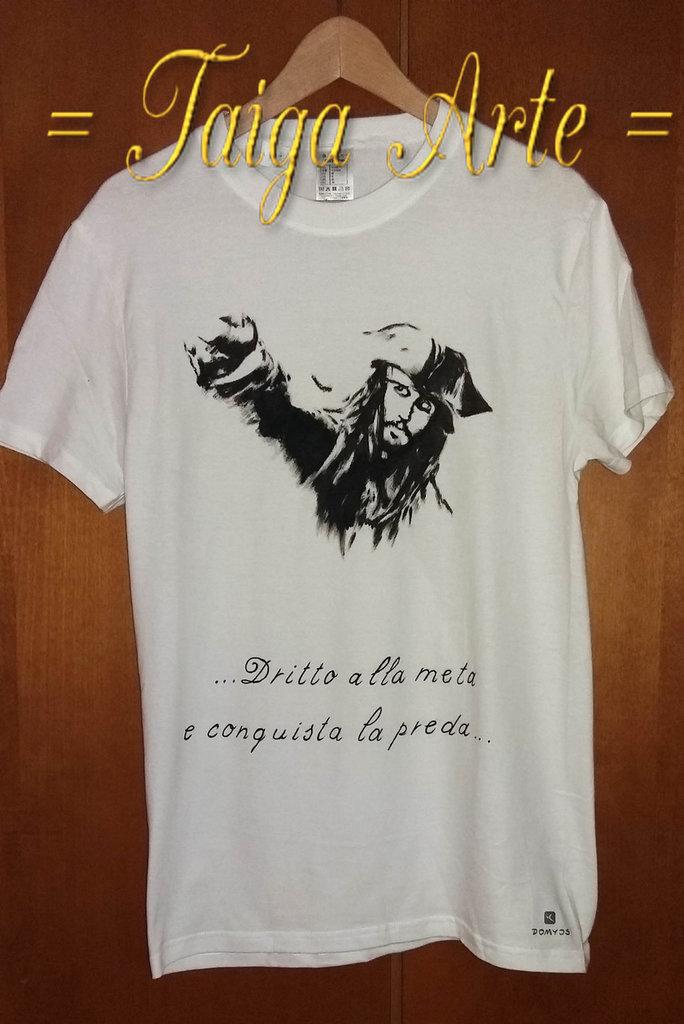 Maglietta Capitan Jack Sparrow
