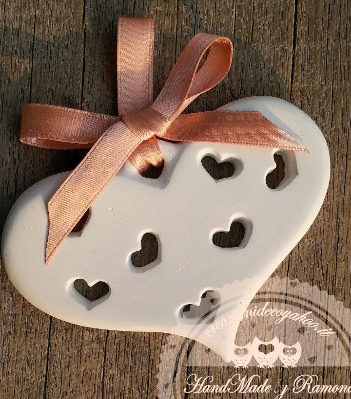 Gessetti cuore , cuoricino,segnaposto, 11x7,5cm bomboniere, nascita,matrimonio, casa,decorazione