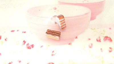 Anello  FIMO - merendina colazione piu cioccolato   - realistica kawaii