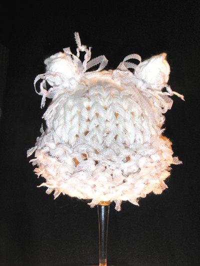 """cappellino neonato """"orsetto romantico"""""""