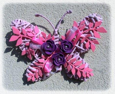 farfalla in vimini e fommy