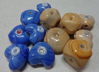 12 Mix perline vetro colori misti