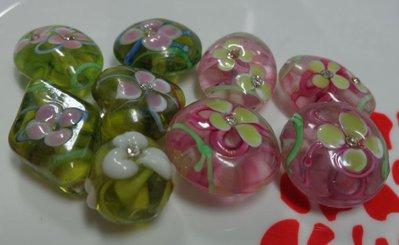 9 Mix perline vetro colori misti
