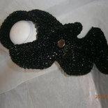 scaldacollo arricciato in lana laminata