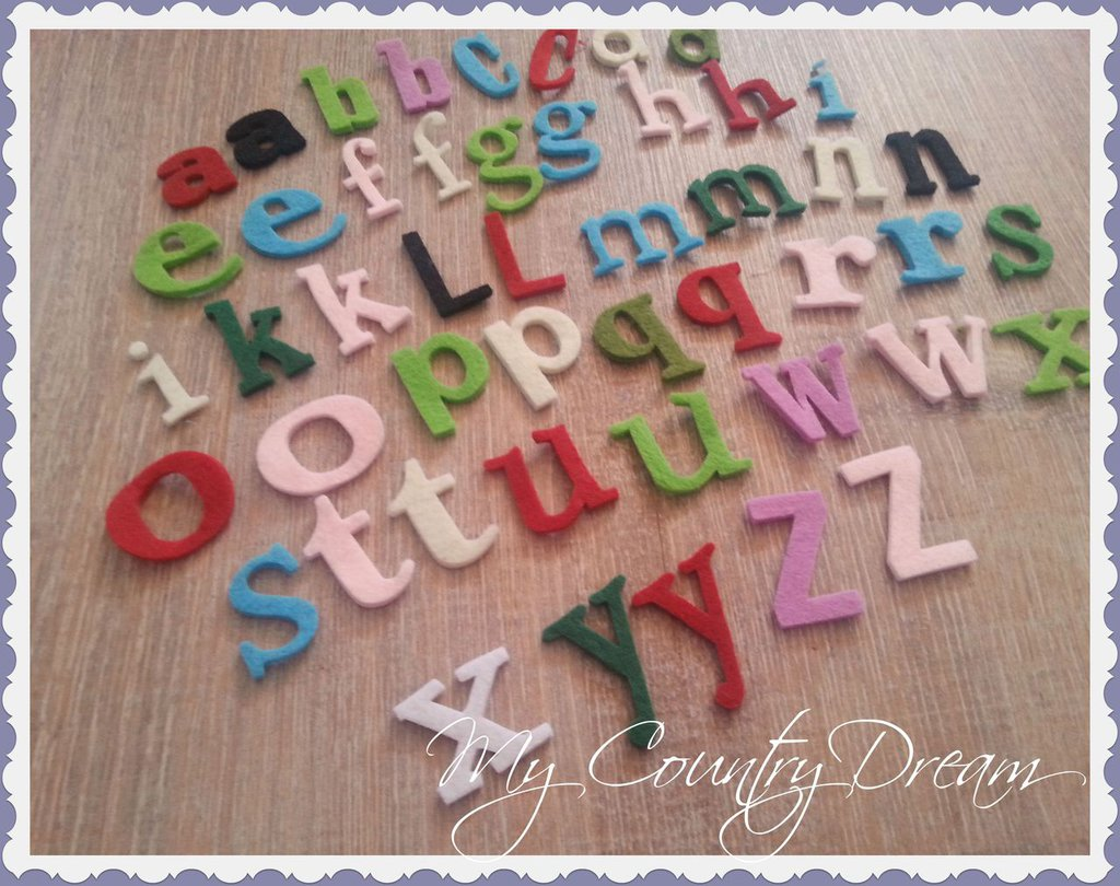 Set Alfabeto in feltro.