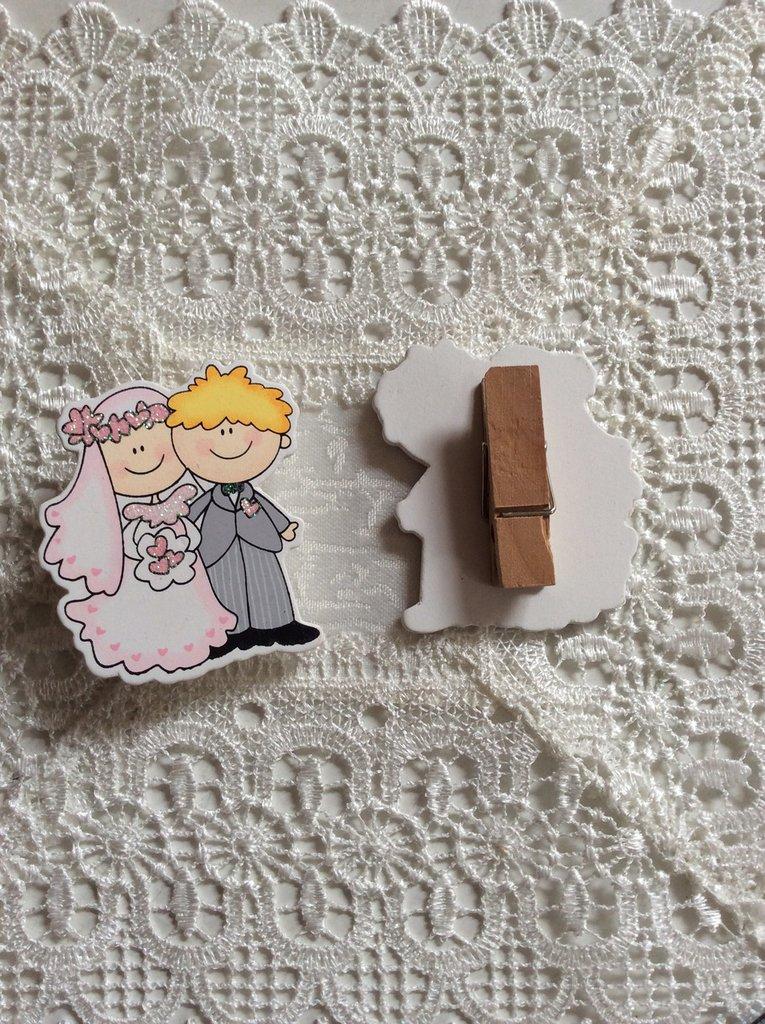 Mollette sposi segnaposto