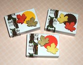 Lotto Scatoline Decorate per Regali e Segnaposto - Foglie d'Autunno e Gufi - *Autumn Collection* Lotto (12pz)