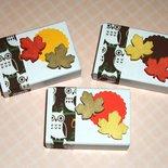 Lotto Scatoline Decorate per Regali e Segnaposto - Foglie d'Autunno e Gufi - *Autumn Collection* Lotto (12pz)