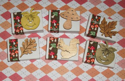 Lotto Scatoline Decorate per Regali e Segnaposto - Autunno e Funghetti - *Autumn Collection* Lotto (20pz)