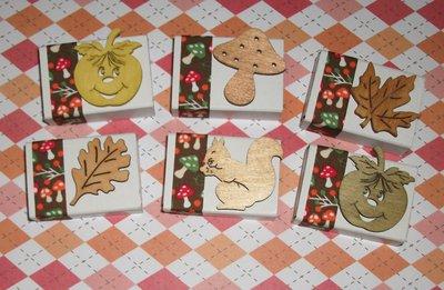 Lotto Scatoline Decorate per Regali e Segnaposto - Autunno e Funghetti - *Autumn Collection* Lotto (20pz)