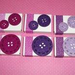 Lotto Scatoline SegnaPosto - Mini Bomboniera Porta Confetti per Battesimo e Baby Shower^^ - *ButtonFelt-Girl* (6pz)