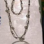 parure :collana bracciale orecchini con perline di carta