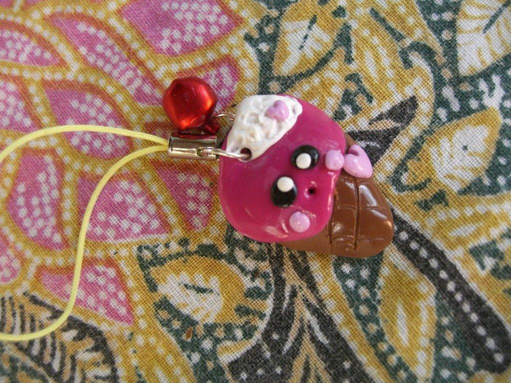 laccetto cellulare gelatino rosa