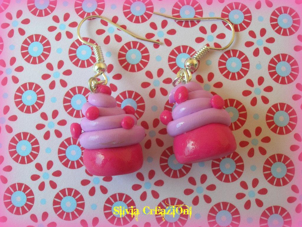 Orecchini cupcakes amarena