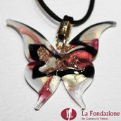 Farfalla Lady - Pendente in vetro di Murano fatto a mano