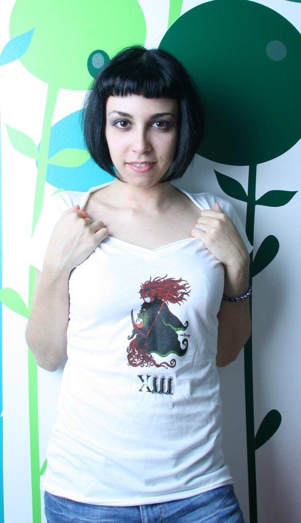Tarot T-Shirt - Maglia Tarocchi - White emo punk