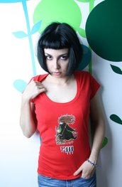 Tarot T-Shirt - Maglia Tarocchi - White Red emo punk