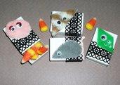 Lotto Scatoline decorate per Caramelle e Regalini di Halloween^^ - Happy Monster - Dolcetto o Scherzetto!!! - Halloween Collection - Lotto (4pz)
