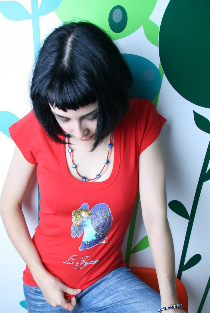 Tarot T-Shirt - Maglia Tarocchi - White Red