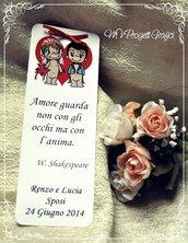 NUOVO SEGNAPOSTO LOVE IS.. CUORE CON AFORISMA
