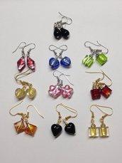 MIX ORECCHINI:10 paia orecchini a pendente.