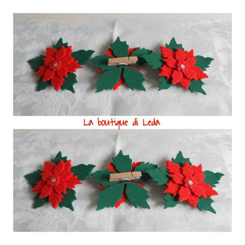 Stella Di Natale Con Feltro.Chiudipacco Stella Di Natale Feste Natale Di La Boutique Di