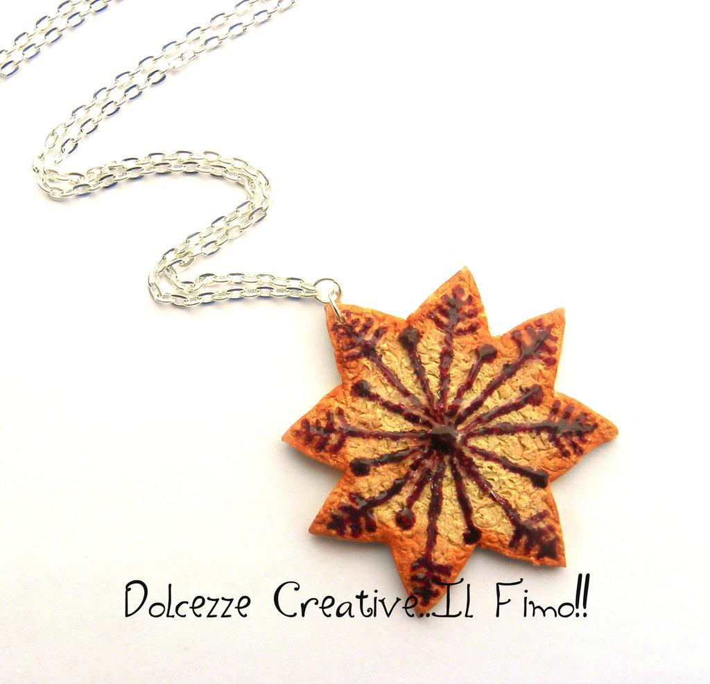 ☃ Natale In Dolcezze 2015 ☃ Collana fiocco di neve - Biscotto stella . kawaii - idea regalo