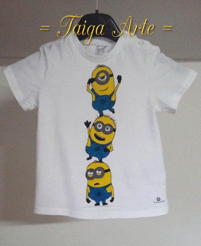 Maglietta tre minions