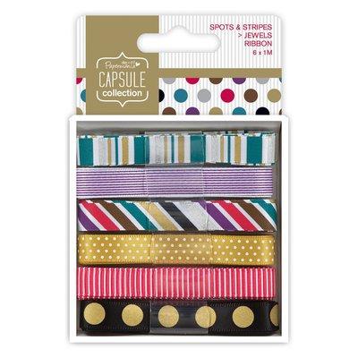 Set 6 nastri - Spots & Stripes Jewels