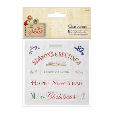 """Clear Stamps - Letter to Santa """"Greetings"""""""