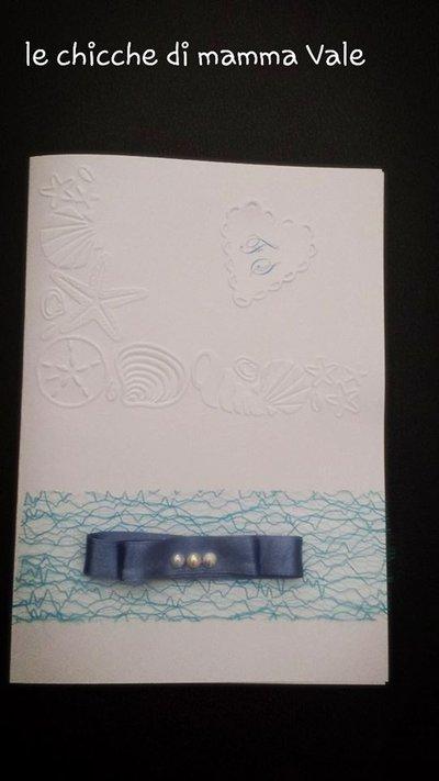 partecipazione invito matrimonio nozze compleanno comunione battesimo tema mare fatte a mano