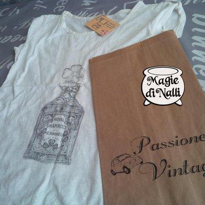 maglietta t-shirt stampata a mano personalizzata
