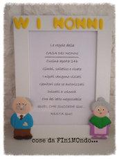 Cornice /Regalo personalizzata per i nonni