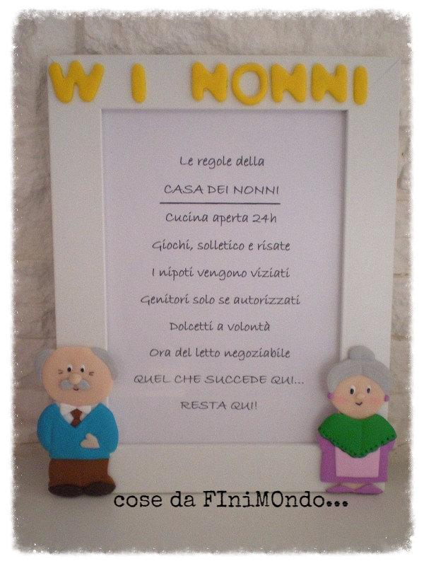 Ben noto Cornice /Regalo personalizzata per i nonni - Per la casa e per te  GB32