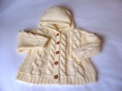 Hand Knit by Pilland - Hoodie-Jacket and Socks set - Wool