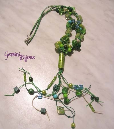 Collana Corda Verde