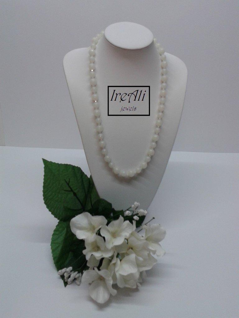Collana Bianco Inverno Collezione Murano