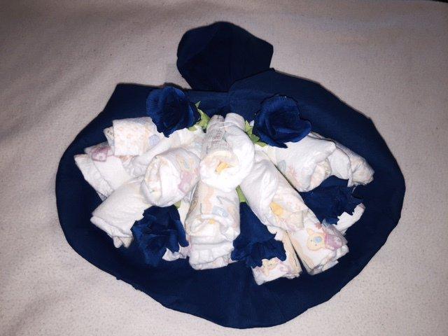 Bouquet di pannolini torta diaper cake