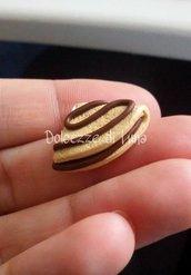 1 pezzo crepes nutella ciondolo in fimo per orecchini bracciali fai da te 1,5 cm