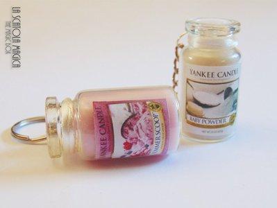 Portachiavi Giara Yankee Candle - fragranze assortite personalizzabile - Fatto a mano