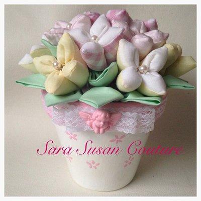 Vesetto con fiori di stoffa – Sara Susan Couture