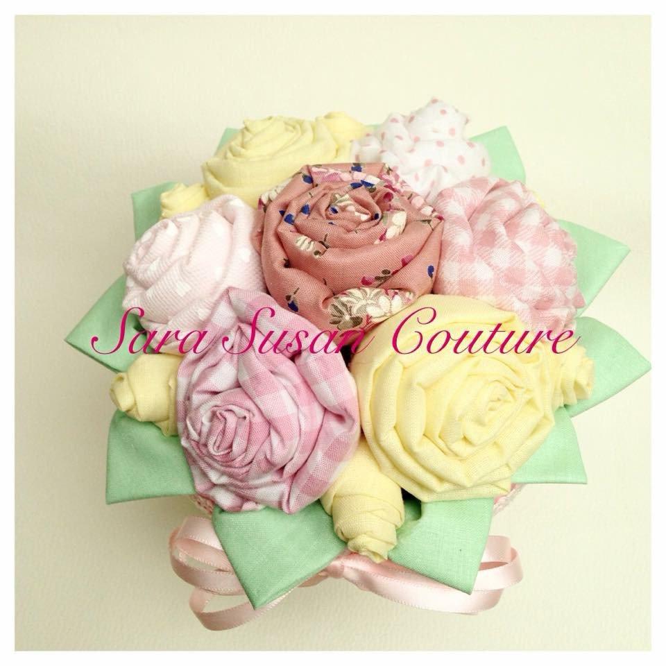 Vasetto roselline di stoffa – Sara Susan Couture