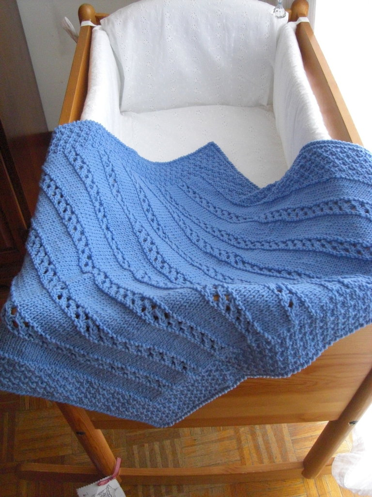 Copertina azzurra per culla bambini per la nanna di for Culla azzurra