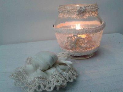 porta candele schabby chic